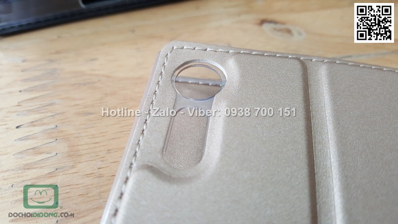 Bao da Sony Xperia XZ Duz vân vải