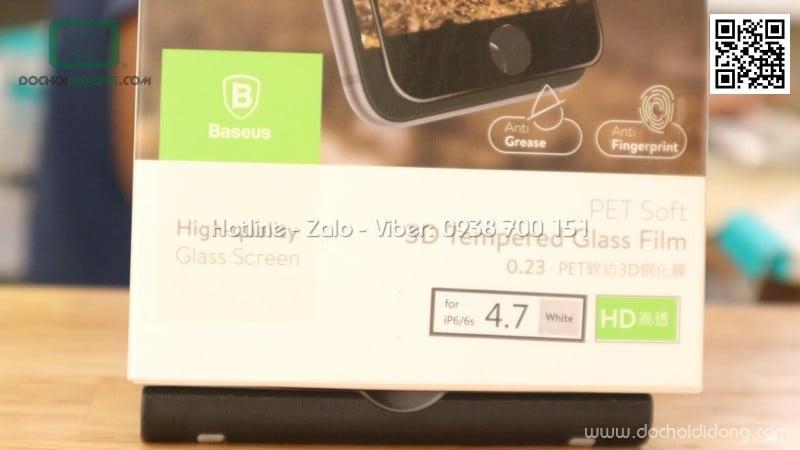 Miếng dán cường lực full màn hình iPhone 6 6s Baseus viền mềm