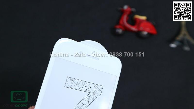 Miếng dán cường lực iPhone 7 4D full màn hình 9H