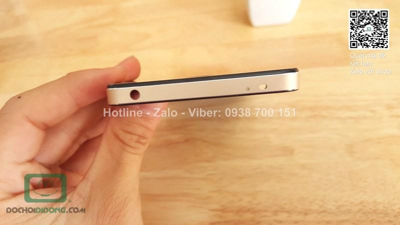 Ốp lưng Xiaomi Redmi Note 2 viền nhôm lưng kính thay nắp