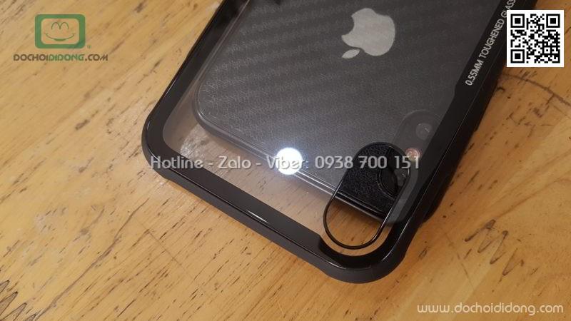 Ốp lưng iPhone X Likgus lưng kính viền dẻo