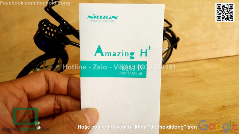 Miếng dán cường lực iPhone 8 Nillkin Amazing H+ Pro