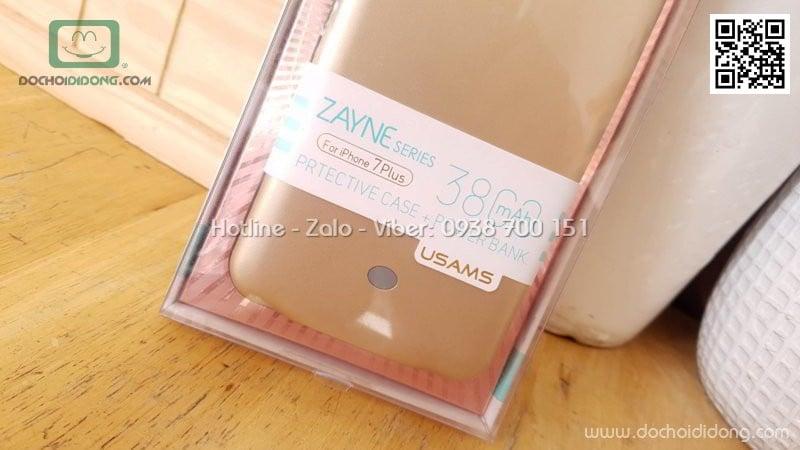 Ốp lưng kiêm sạc dự phòng iPhone 7 8 Plus Usams Zayne Series 3800 mAh