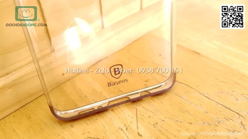 Ốp lưng Samsung Galaxy S9 Plus Baseus Glitter trong suốt viền màu