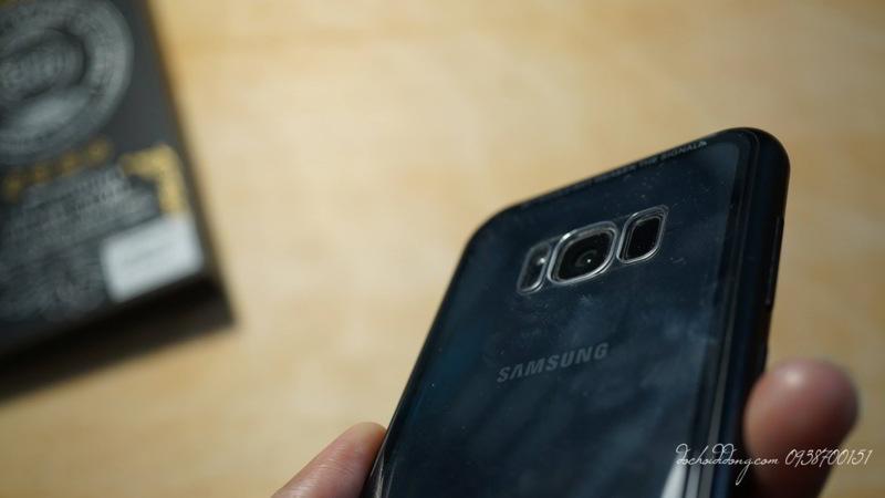 Ốp lưng nam châm Samsung S8 Luphie lưng kính trong