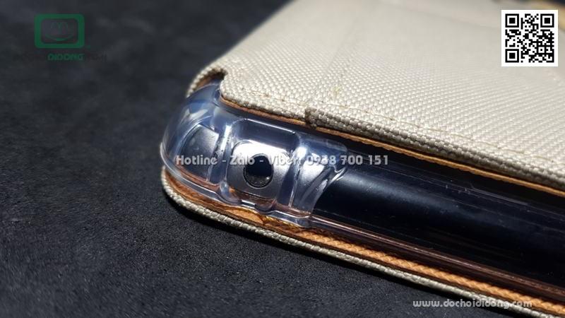 Bao da iPad Mini 1 2 3 Kaku mặt vải cao cấp
