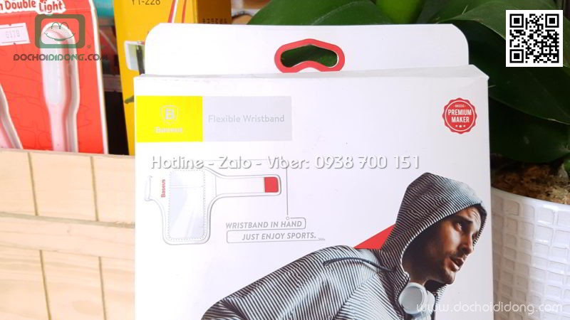 Bao đeo điện thoại tập thể thao Baseus Flexible Wristband 5.8 inch
