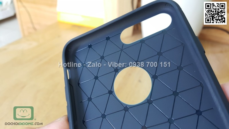 Ốp lưng iPhone 7 Plus Ipaky dẻo nhám carbon