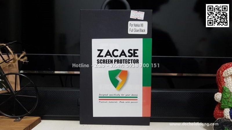 Miếng dán cường lực Nokia X6 full màn hình Zacase full keo