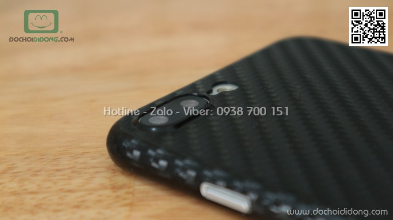 Ốp lưng iPhone 8 Plus iCan carbon siêu mỏng