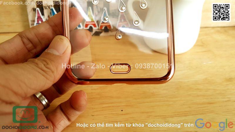 Ốp lưng iPhone 8 Plus đính đá hình con công