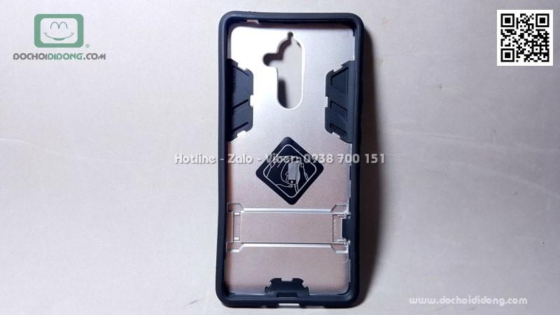 Ốp lưng Nokia 7 Plus iRon Man chống sốc có chống lưng