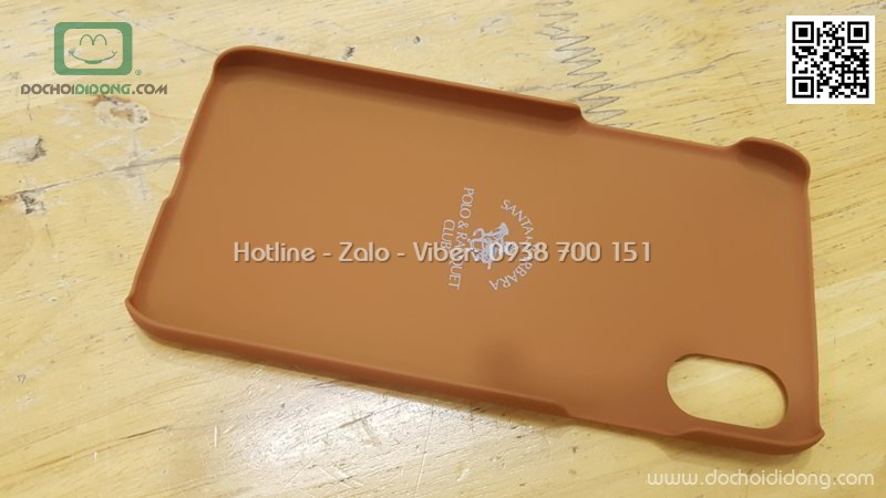 Ốp lưng iPhone X Polo da
