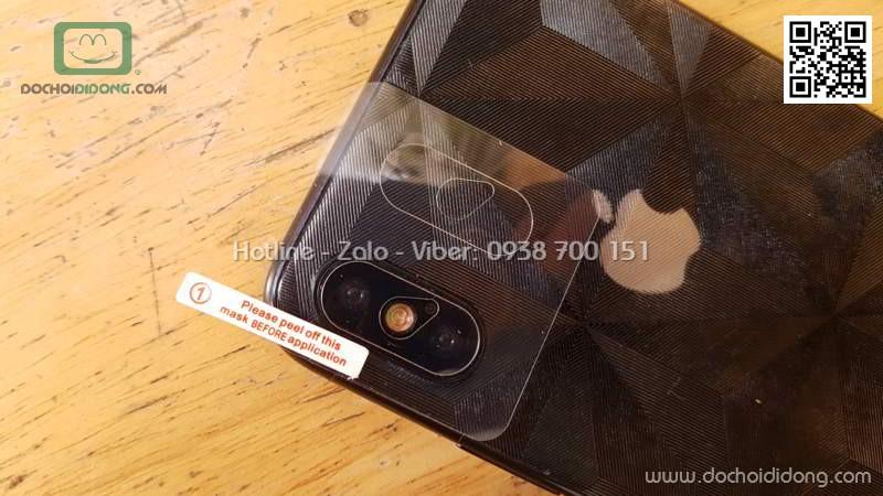 Miếng dán cường lực mặt lưng iPhone X Baseus hào quang kèm 2 dán camera