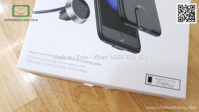 Bộ ốp sạc không dây trên xe hơi iPhone 7 8 Plus Baseus Magnetic Car Mount Holder