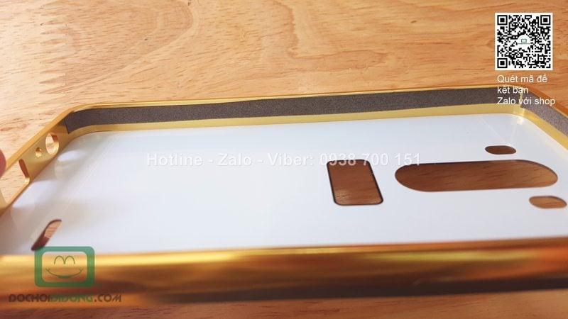 Ốp lưng LG G3 viền nhôm lưng tráng gương