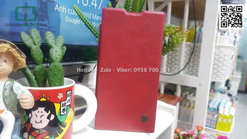 Bao da Sony Xperia XA2 Ultra Nillkin Qin giả da cao cấp