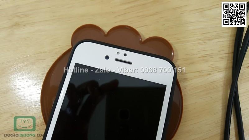 Ốp lưng iPhone 6 6s dẻo hình thú có dây đeo