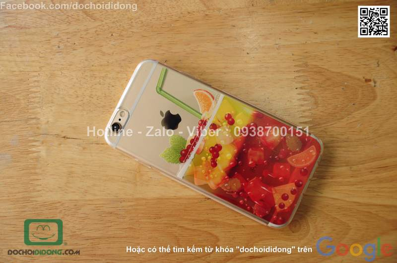 Ốp lưng iPhone 6 6S OU dẻo nước trái cây
