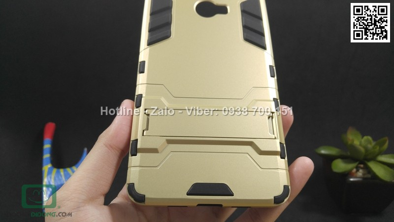 Ốp lưng Xiaomi Redmi Note 2 Iron Man chống sốc có chống lưng