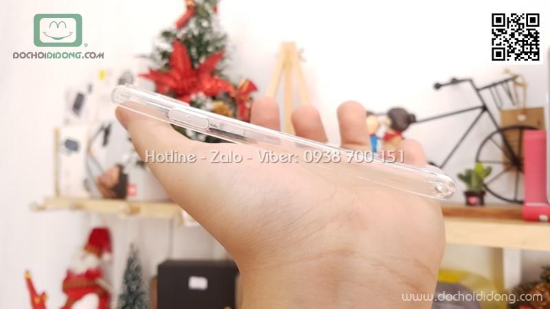 Ốp lưng iPhone X Zacase dẻo trong bảo vệ camera và chân sạc