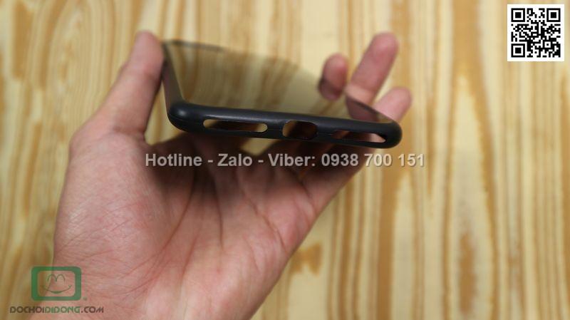 Ốp lưng iPhone 8 X Level dẻo đen bóng siêu mỏng