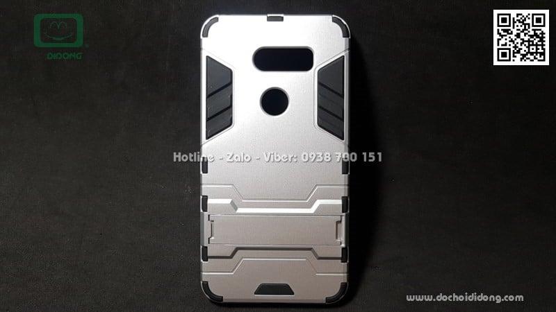 Ốp lưng LG V30S ThinQ iRon Man chống sốc có chống lưng