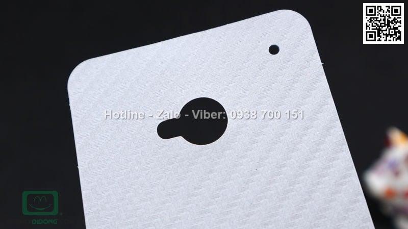 Miếng dán mặt sau HTC One M7 Carbon