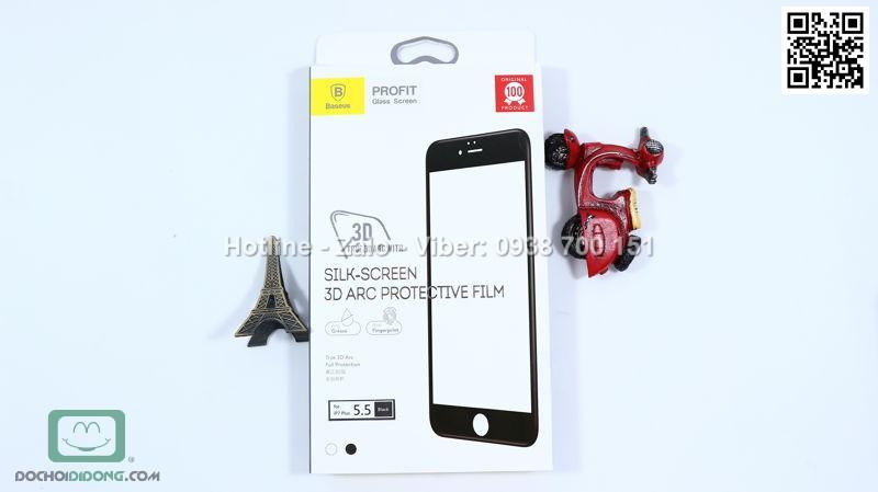 Miếng dán cường lực iPhone 8 Plus Baseus 3D viền kính full màn hình 9H