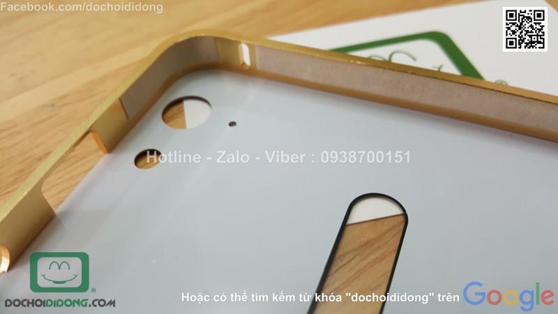 Ốp lưng Lenovo K5 Plus viền nhôm lưng tráng gương