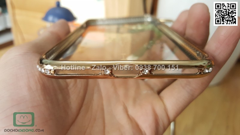 Ốp lưng iPhone 8 Plus đính đá lấp lánh