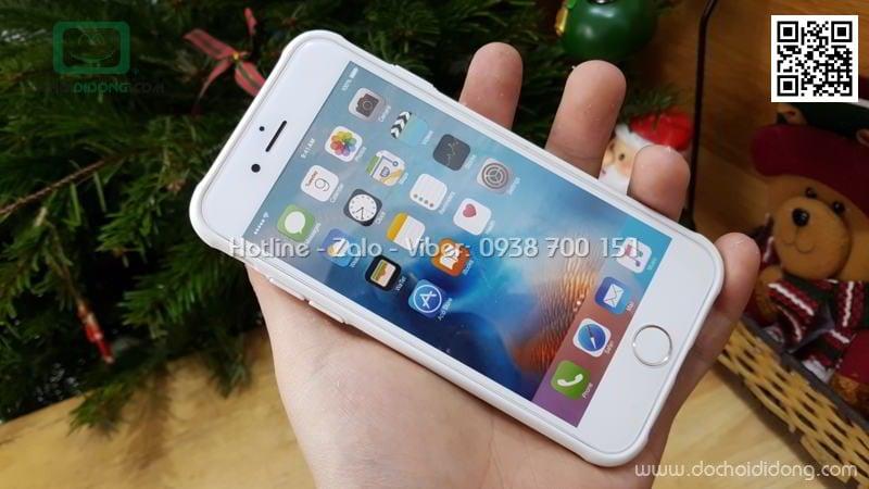 Ốp lưng iPhone 6 6S Likgus lưng kính viền dẻo
