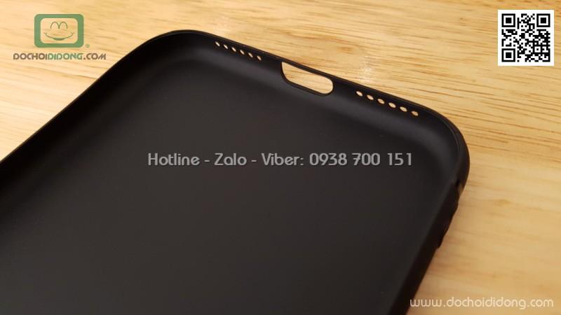 Ốp lưng iPhone X Zacase bảo vệ camera dẻo nhám lưng kín