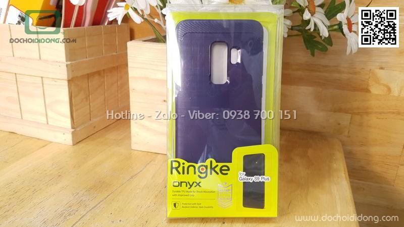 Ốp lưng Samsung S9 Plus Ringke Onyx vân kim loại
