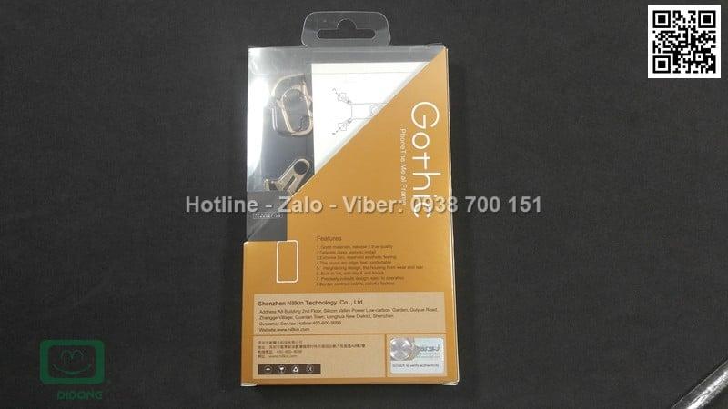 Ốp lưng iPhone 8 Barde kim loại có nhẫn đeo