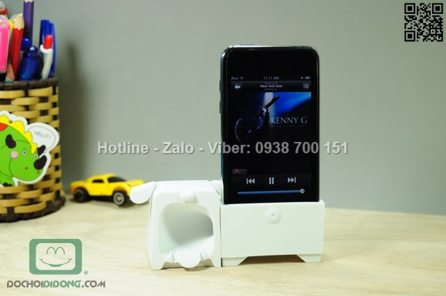 Giá đỡ kiêm loa khuếch đại iPhone 5 5S Ozaki chính hãng