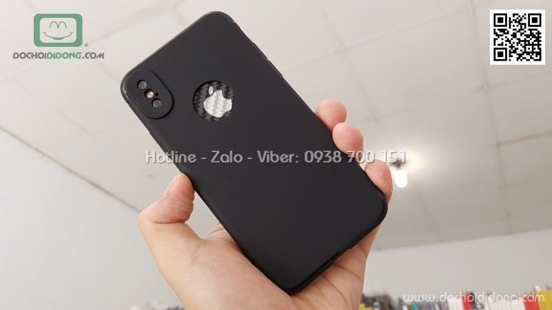 Ốp lưng iPhone X Zacase bảo vệ camera dẻo nhám khuyết táo