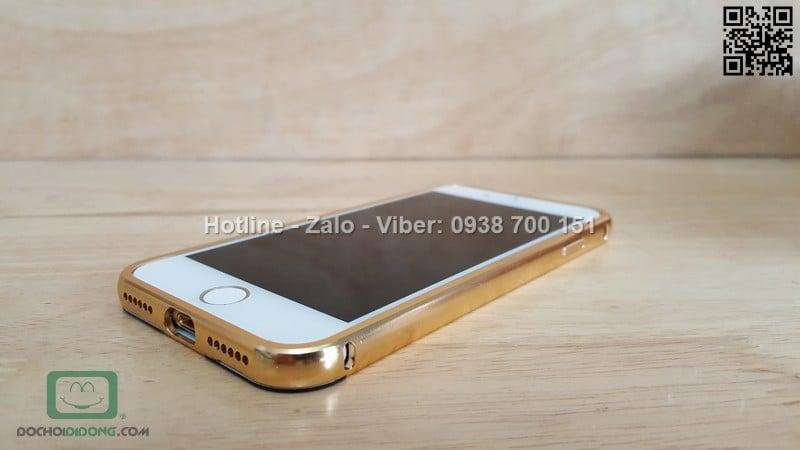 Ốp lưng iPhone 7 viền nhôm lưng tráng gương