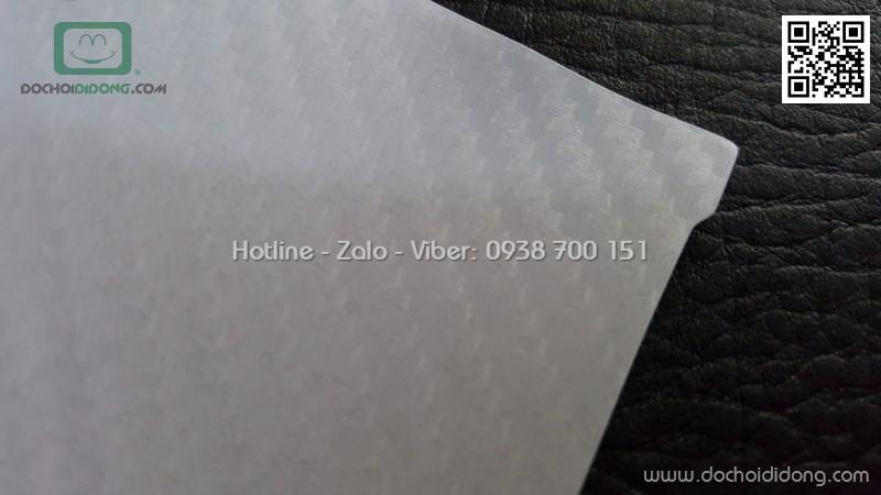 Miếng dán lưng Sony XA1 vân carbon trong