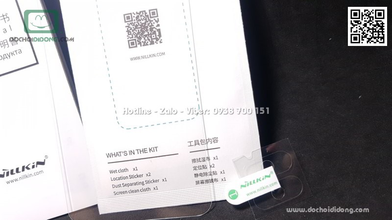 Miếng dán cường lực mặt lưng Xiaomi Mi 8 Pro Nillkin Amazing H Pro
