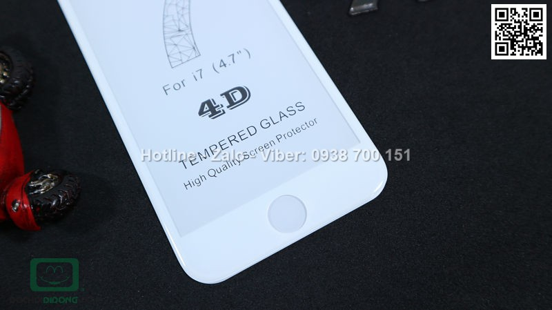 Miếng dán cường lực iPhone 8 4D full màn hình 9H