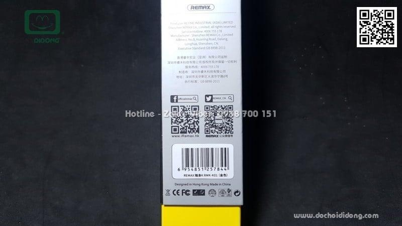 Micro karaoke Remax K01 cho điện thoại máy tính bảng và PC