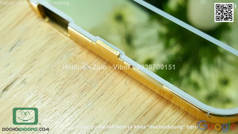 Ốp lưng HTC Desire 820 viền nhôm lưng tráng gương
