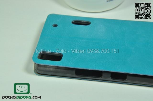 Bao da Lenovo A7000 ( K3 Note ) Mofi da trơn cao cấp