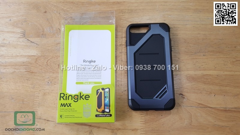 Ốp lưng iPhone 8 Plus Ringke Max chống sốc cao cấp