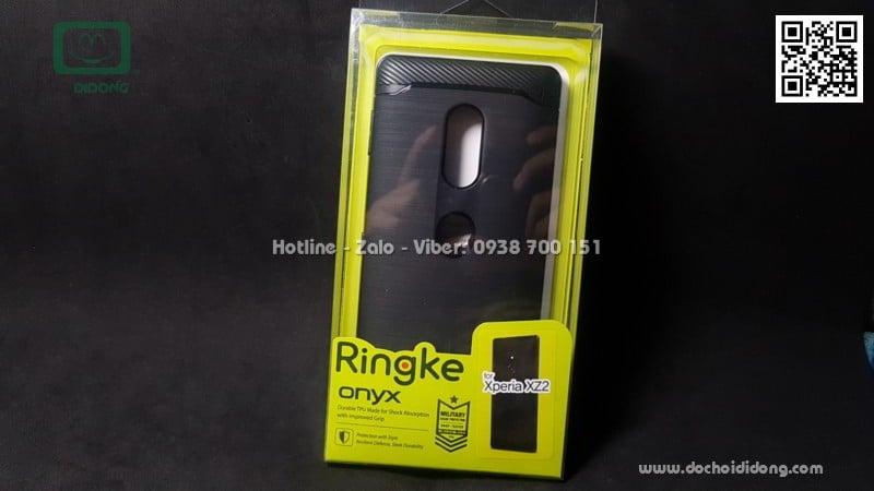 Ốp lưng Sony XZ2 Ringke Onyx vân kim loại