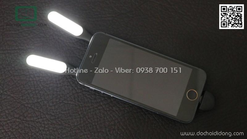 Đèn selfie Baseus 2 bóng kiêm chân đế điện thoại