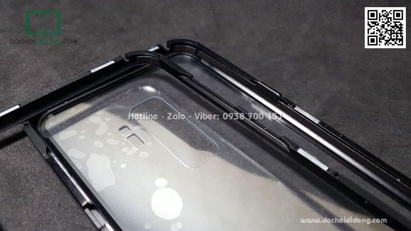 Ốp lưng nam châm Samsung S9 Plus Luphie lưng kính trong