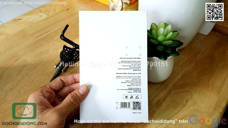 Bao da iPhone 8 Plus Nillkin Qin vân sần