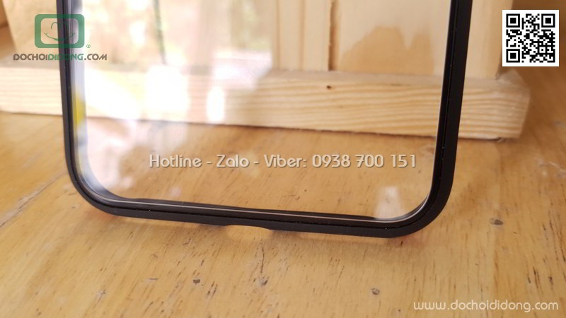 Ốp lưng iPhone 7 8 Plus Sulada lưng kính trong viền màu